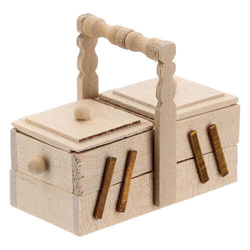 Wooden dressmaker case Nativity scene 10 cm 5