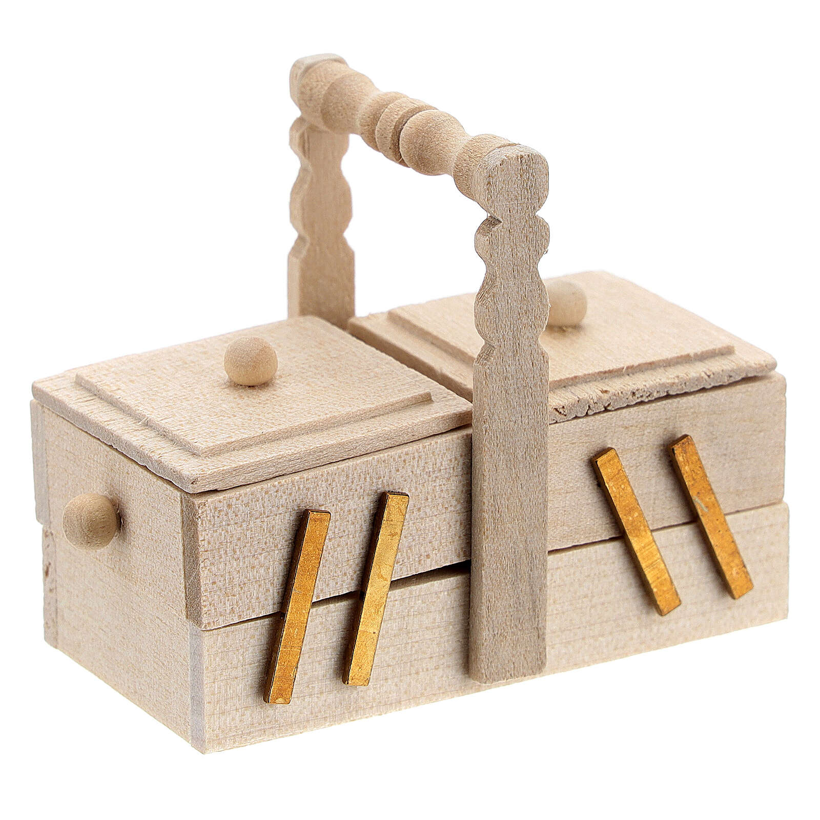 Boîte de couture pour couturière crèche 10 cm 4