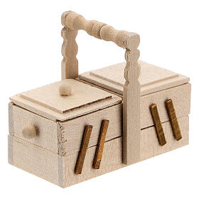 Boîte de couture pour couturière crèche 10 cm s5