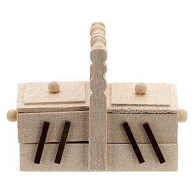 Valigetta sarta legno presepe 10 cm s1