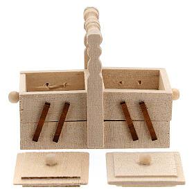 Valigetta sarta legno presepe 10 cm s3