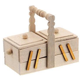 Valigetta sarta legno presepe 10 cm s4