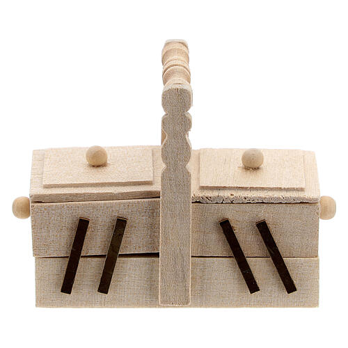 Valigetta sarta legno presepe 10 cm 1