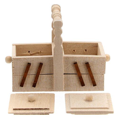 Valigetta sarta legno presepe 10 cm 3