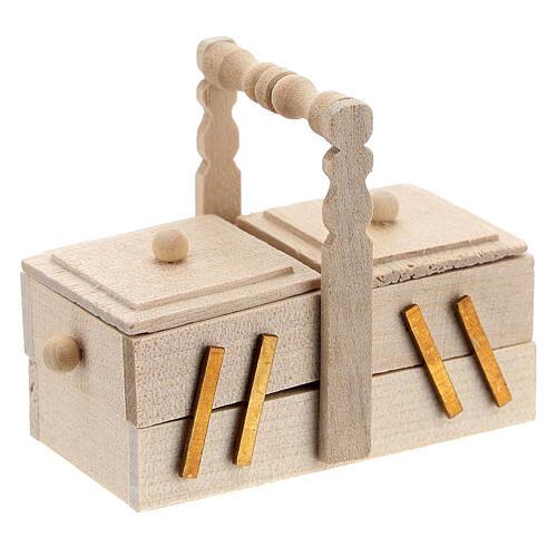 Valigetta sarta legno presepe 10 cm 4