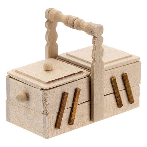 Valigetta sarta legno presepe 10 cm 5