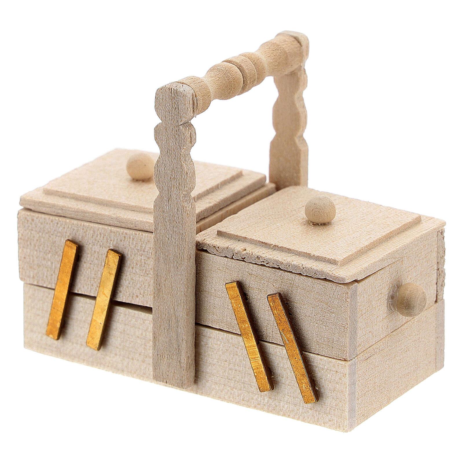 Seamstress' box for Nativity Scene with 10 cm figurines 4