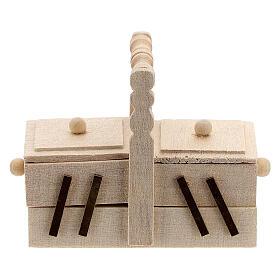 Seamstress' box for Nativity Scene with 10 cm figurines s1