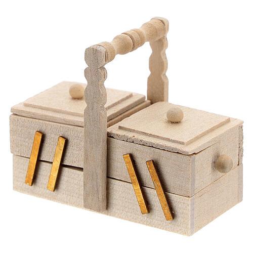 Seamstress' box for Nativity Scene with 10 cm figurines 2