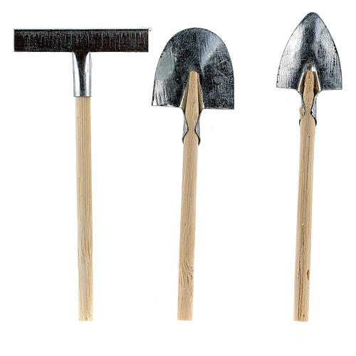 Set of 3 garden tools for Nativity Scene with 10 cm figurines 2