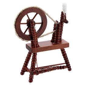 Rouet pour laine acajou crèche 10 cm s3