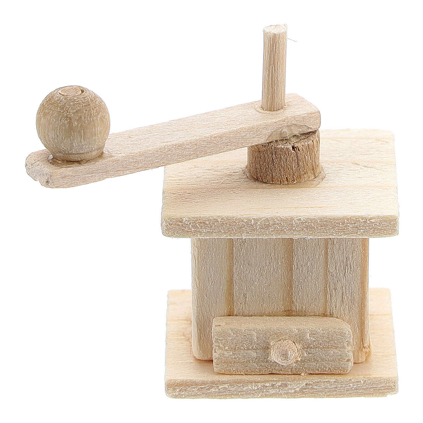 Wood coffee mill for Nativity Scene with 8 cm figurines 4