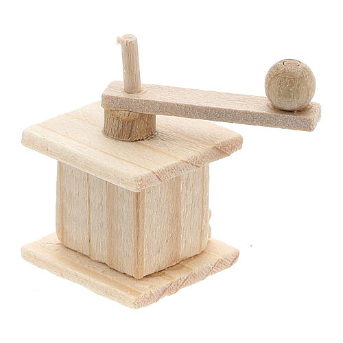 Wood coffee mill for Nativity Scene with 8 cm figurines 2