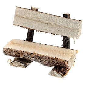 Banc tronc arbre crèche 8 cm s2