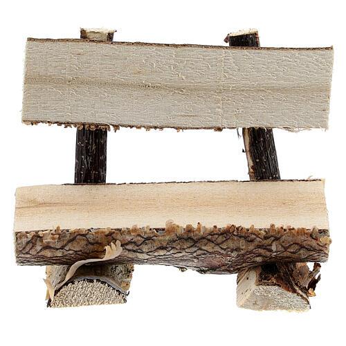 Panchina tronco albero presepe 8 cm 1