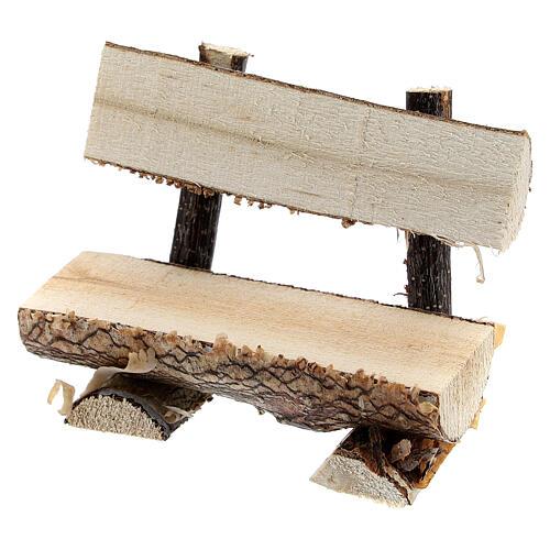 Panchina tronco albero presepe 8 cm 2