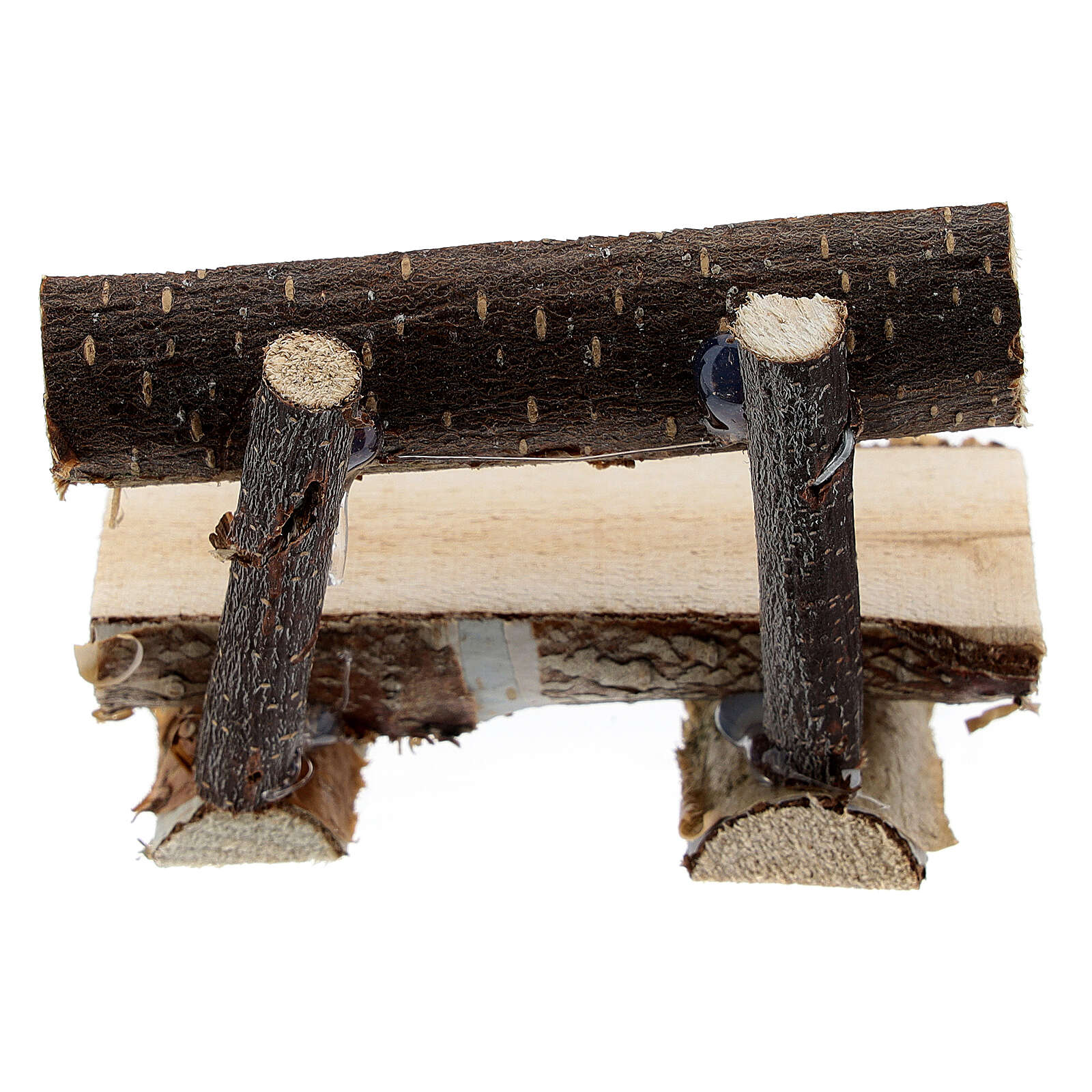 Tree trunk bench for Nativity Scene with 8 cm figurines 4