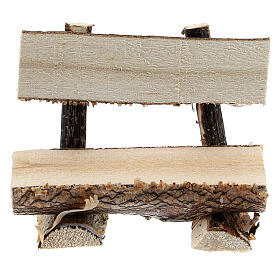 Tree trunk bench for Nativity Scene with 8 cm figurines s1