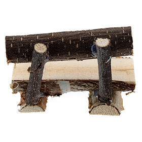 Tree trunk bench for Nativity Scene with 8 cm figurines s4