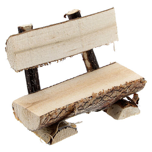 Tree trunk bench for Nativity Scene with 8 cm figurines 3