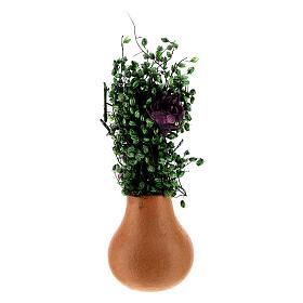 Vasos de flores em miniatura para presépio com figuras altura média 8 cm, modelos surtidos s3