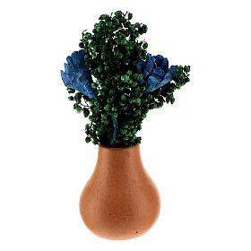 Vasos de flores em miniatura para presépio com figuras altura média 8 cm, modelos surtidos s4