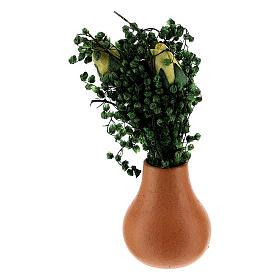 Vasos de flores em miniatura para presépio com figuras altura média 8 cm, modelos surtidos s5