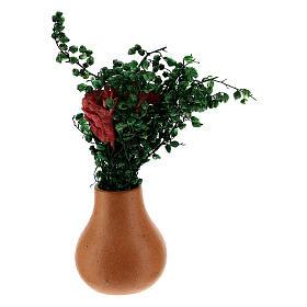 Vasos de flores em miniatura para presépio com figuras altura média 8 cm, modelos surtidos s6