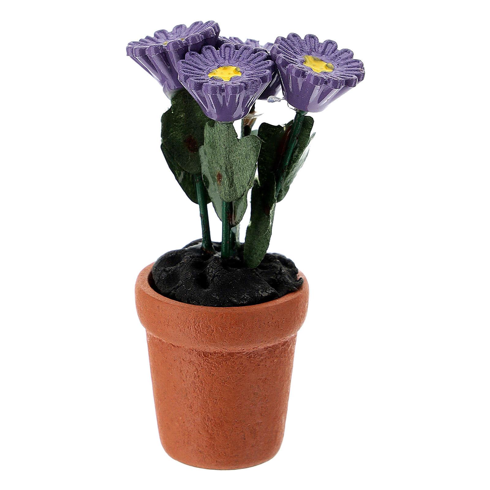 Vase fleurs mixtes colorées 4x2 cm crèche 10 cm 4
