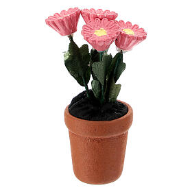 Vase fleurs mixtes colorées 4x2 cm crèche 10 cm s4