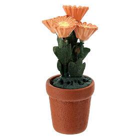 Vase fleurs mixtes colorées 4x2 cm crèche 10 cm s8