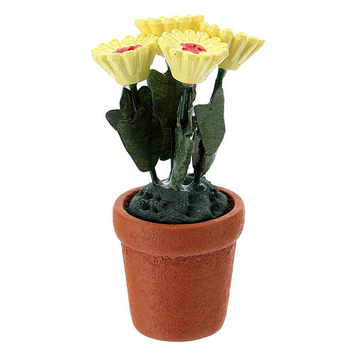 Vase fleurs mixtes colorées 4x2 cm crèche 10 cm 2