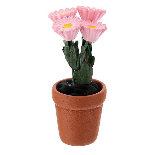 Vase fleurs mixtes colorées 4x2 cm crèche 10 cm 3