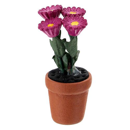 Vase fleurs mixtes colorées 4x2 cm crèche 10 cm 5