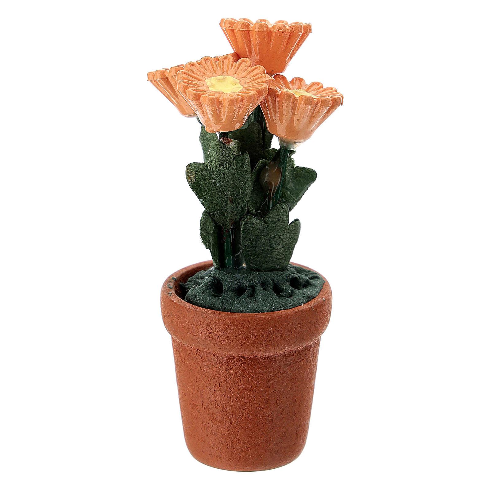 Vasetto fiori misti colorati 4x2 cm presepi 10 cm 4
