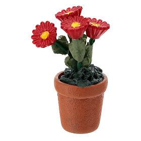 Vasetto fiori misti colorati 4x2 cm presepi 10 cm s9