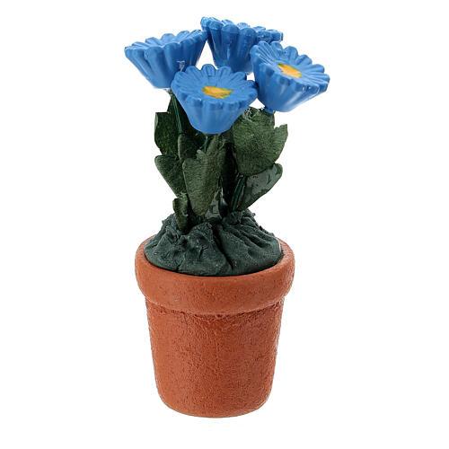 Vaso de flores em miniatura 4x2 cm para presépio com figuras altura média 10 cm, modelos surtidos 1