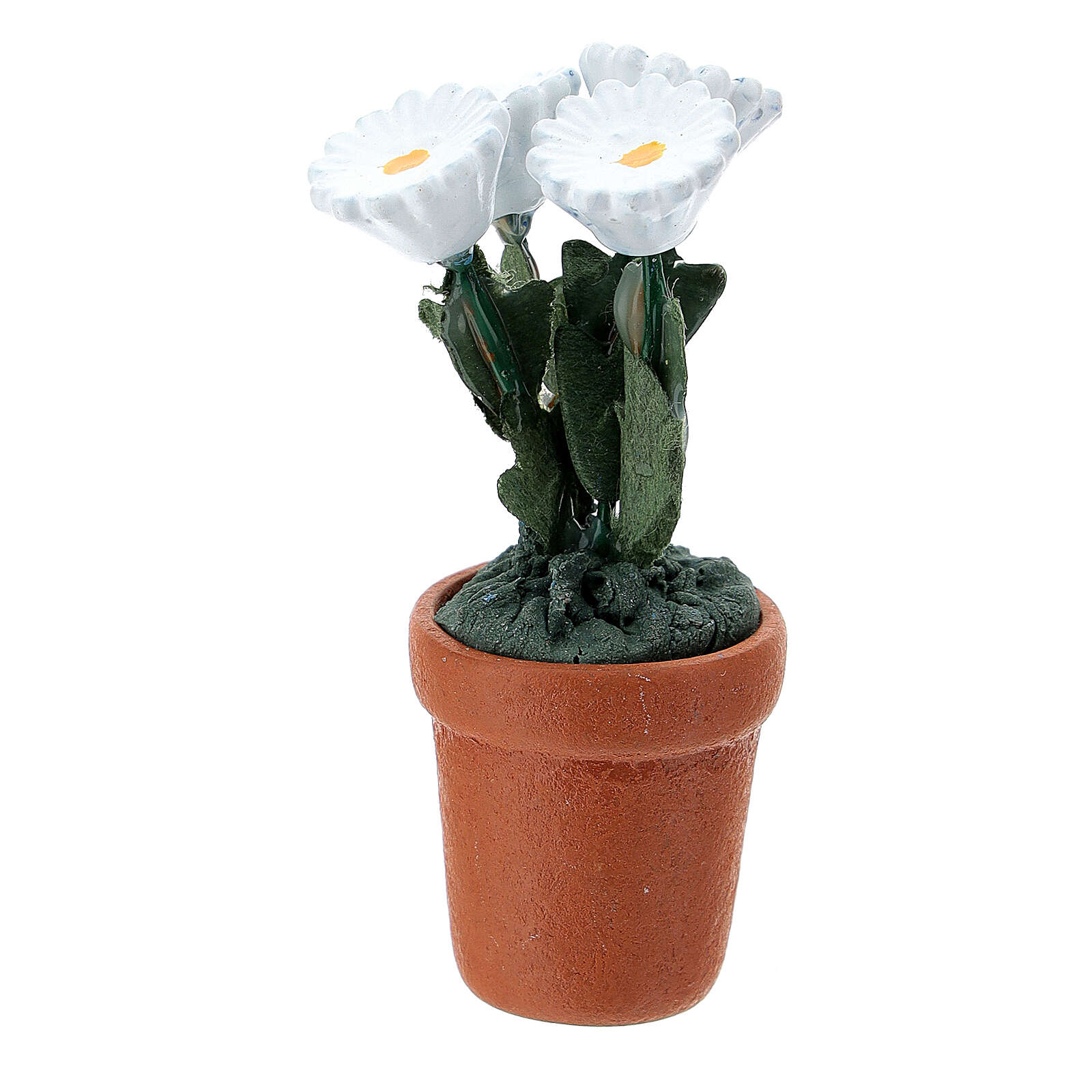 Flower pot different models 4x2 cm for Nativity Scene with 10 cm figurines 4