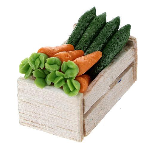 Vegetables and vegetable boxes 12 pcs 2x2.5x2 cm Nativity scenes 8 cm 3