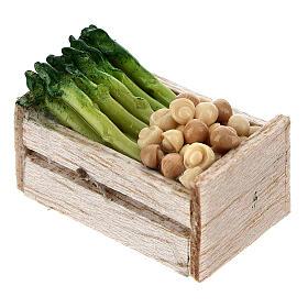 Cajitas verdura y hortalizas 12 piezas 2x2,5x2 cm belenes 8 cm s5