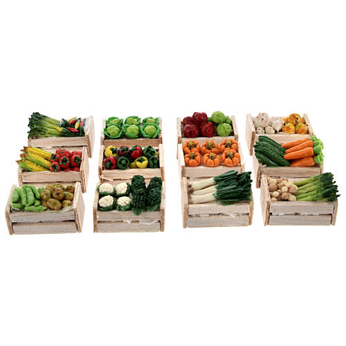 Boxes with vegetables 12 pieces 2x2,5x2 for Nativity Scene with 8 cm figurines 1