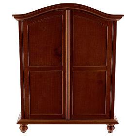 Wooden closet classic style 20x15x5 cm Nativity scene 12-14 cm s1