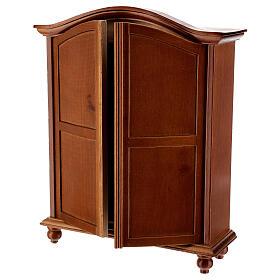 Wooden closet classic style 20x15x5 cm Nativity scene 12-14 cm s2