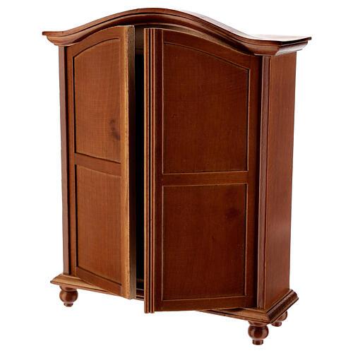 Wooden closet classic style 20x15x5 cm Nativity scene 12-14 cm 2