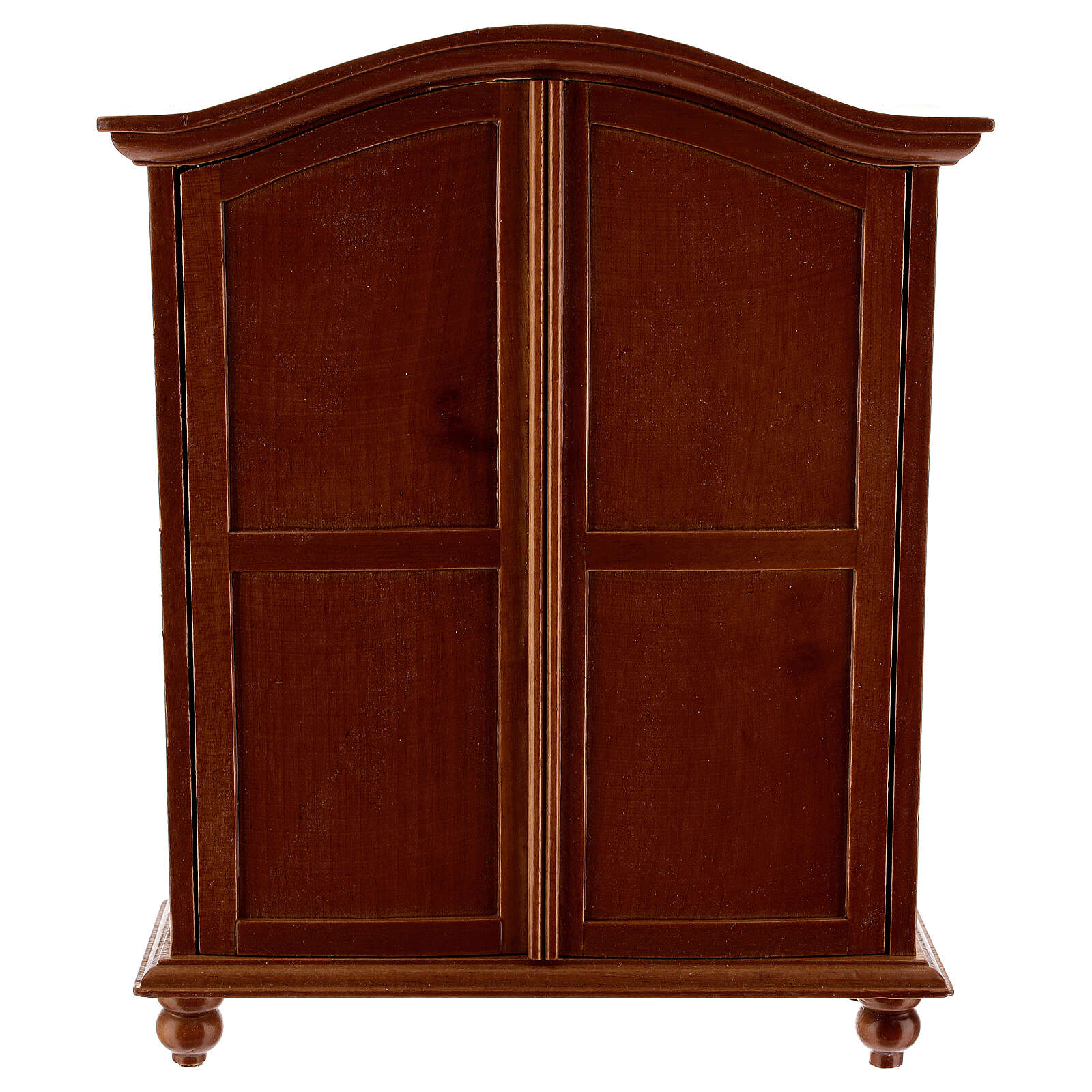 Classic wood wardrobe 20x15x5 cm for Nativity Scene with 12-14 cm figurines 4
