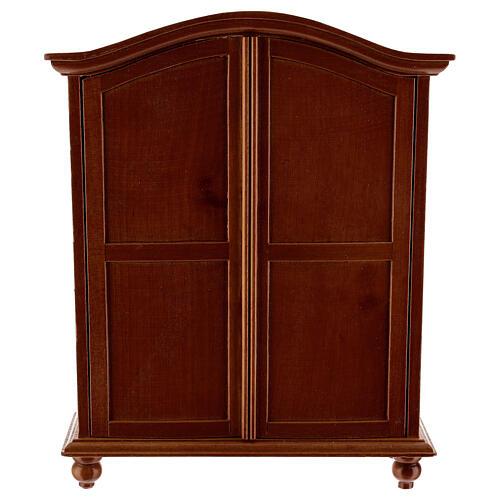 Classic wood wardrobe 20x15x5 cm for Nativity Scene with 12-14 cm figurines 1
