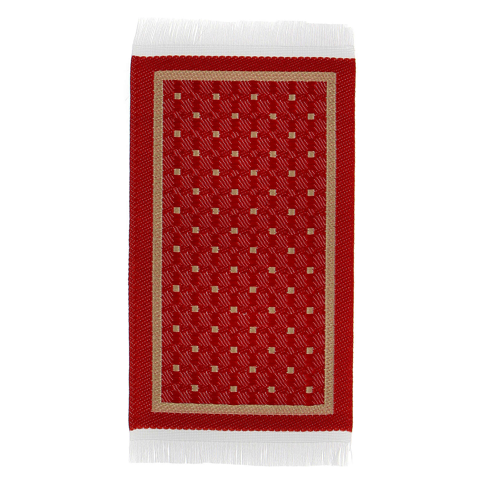 Red and gold carpet 8x5 cm for Nativity Scene with 10-16 cm figurines 4