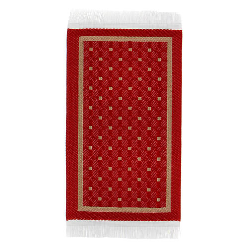 Red and gold carpet 8x5 cm for Nativity Scene with 10-16 cm figurines 1