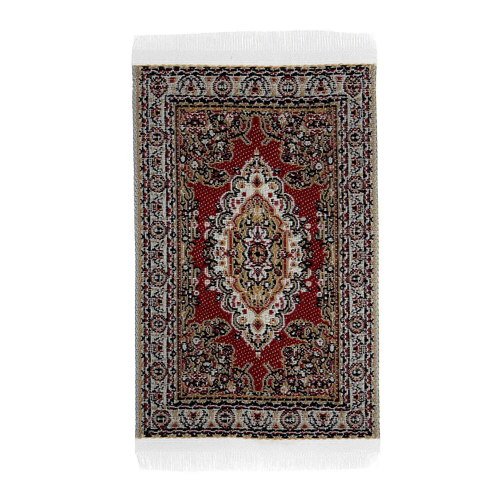 Carpet with various decorations 8x5 cm for Nativity scene 10-16 cm 4