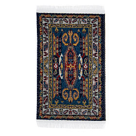 Carpet with various decorations 8x5 cm for Nativity scene 10-16 cm s1